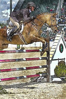 Hunter Jumper Equestrian Art Print