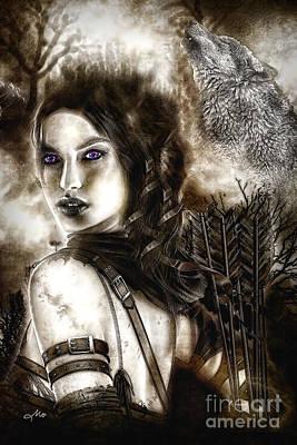Spooky Digital Art - Hunter by Mo T