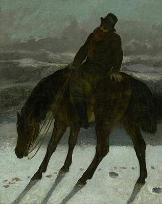 Painting - Hunter On Horseback by Gustave Courbet
