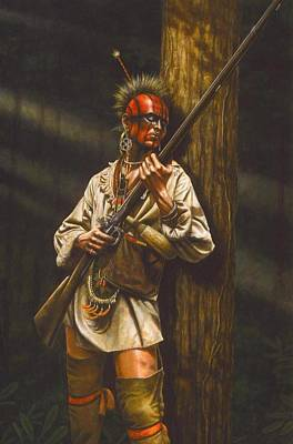 American Indian History Painting - Hunter Or Hunted by Dan  Nance