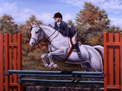 English Riding Painting - Hunter Pony by Richard De Wolfe