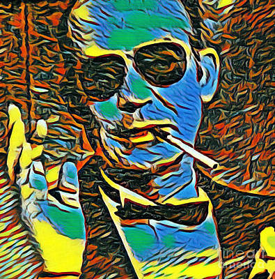 Hunter S. Thompson Painting - Hunter S Thompson Acid Trip  by Pd