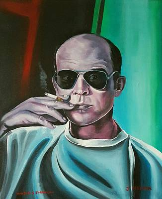 Hunter S. Thompson Painting - Hunter S Thompson by Jackie Martin