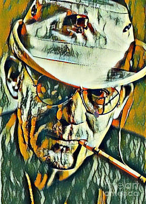 Hunter S. Thompson Painting - Hunter S Thompson by Pd