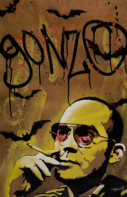 Hunter S. Thompson Print by Tai Taeoalii