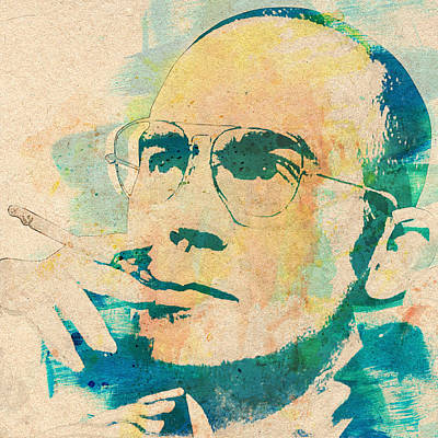 Hunter S. Thompson Print by Taylan Apukovska