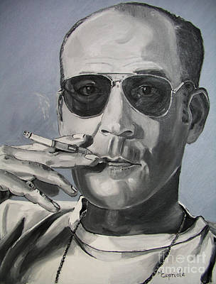 Painting - Hunter Thompson by Mary Capriole