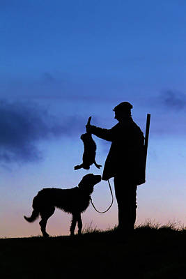 Photograph - Hunter With Dog by Arterra Picture Library