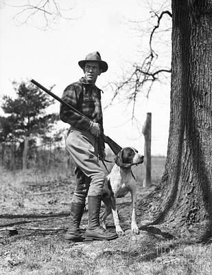 Hunter With Dog, C.1930s Art Print
