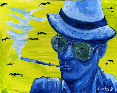 Hunter S. Thompson Painting - Hunter4 by Jon Griffin