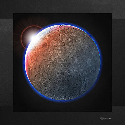 Digital Art - Hunter's Moon - The Dark Side Of The Moon by Serge Averbukh