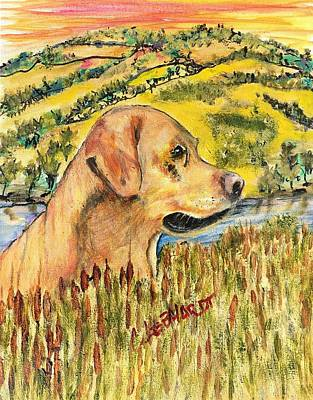 Painting - Hunters Retriever by Chuck Gebhardt
