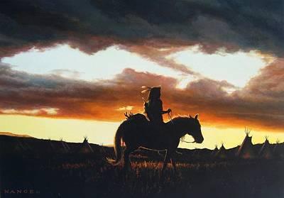 American Indian History Painting - Hunter's Return by Dan  Nance