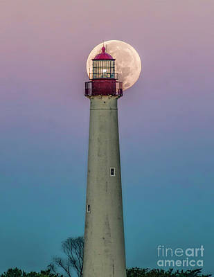 Photograph - Hunter's Supermoon At Cape May Lighthouse by Nick Zelinsky