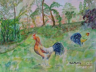 Painting - Hunting Cockerels by Paula Maybery