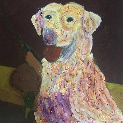 Labrador Retreiver Painting - Hunting Dog by Donald J Ryker III