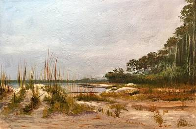 Painting - Hunting Island Beach by Karen Langley