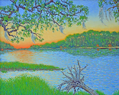 Painting - Hunting Island Lagoon 2 by Dwain Ray
