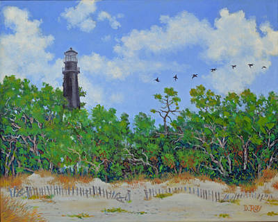 Painting - Hunting Island Lighthouse by Dwain Ray