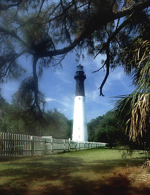 Hunting Island Lighthouse Sc Art Print by Skip Willits