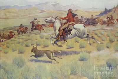 Hunting On The Prairie Art Print