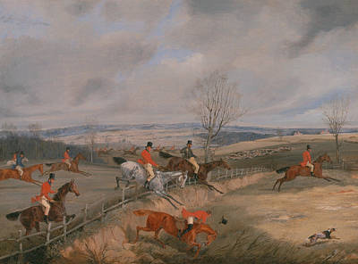 Painting - Hunting Scene - Drawing The Cover by Treasury Classics Art