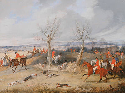 Painting - Hunting Scene - In Full Cry by Treasury Classics Art