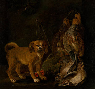 Painting - Hunting Still Life With Dog by Jan Fyt