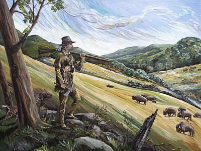 Hunting The Buffalo Original by Paula Blasius McHugh
