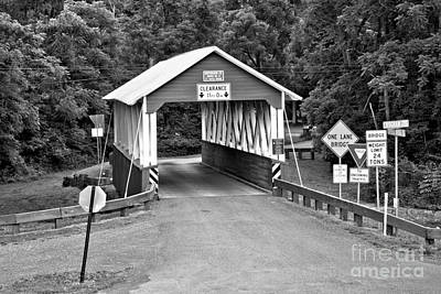 Photograph - Huntingdon County St Mary Covered Bridge by Adam Jewell