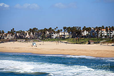 Huntington Beach California Art Print by Paul Velgos