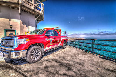 Photograph - Huntington Beach Fire by Spencer McDonald