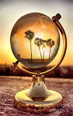 Huntington Beach Globe Art Print