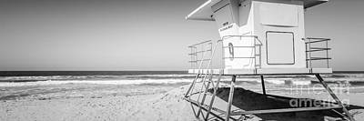 Huntington Beach California Photograph - Huntington Beach Lifeguard Tower Panorama Photo by Paul Velgos