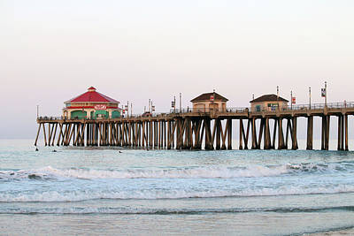 Photograph - Huntington Beach Morning by Art Block Collections