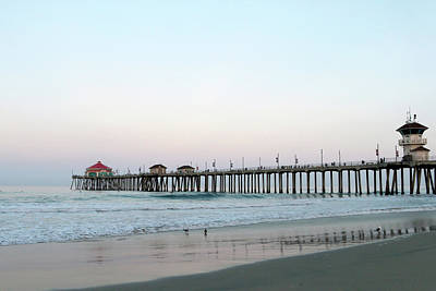 Photograph - Huntington Beach - Morning Has Broken by Art Block Collections