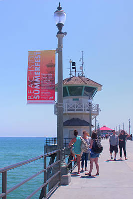 Photograph - Huntington Beach Pier California by Ram Vasudev