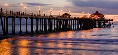 Huntington Beach Pier Art Print by Charlie Hunt