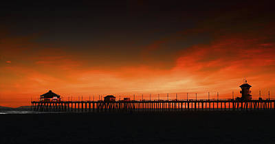 Huntington Beach Pier Art Print by DRK Studios