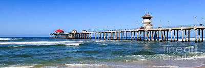 Huntington Beach Pier Panoramic Photo Art Print
