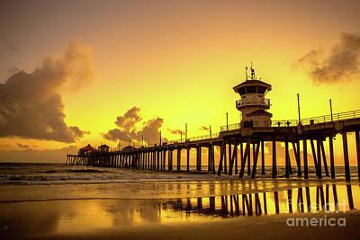 Phong Trinh Photograph - Huntington Beach Pier by Phong Trinh