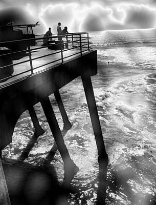Faith Hope And Love Digital Art - Huntington Beach Pier by Abstract Angel Artist Stephen K