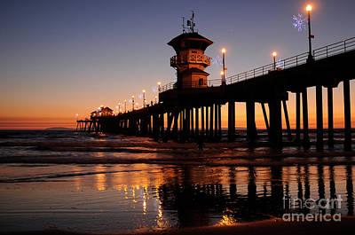 Huntington Beach Pier Art Print by Timothy OLeary