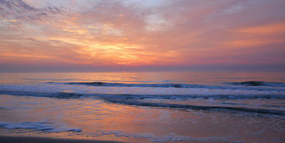 Photograph - Huntington Beach Sunrise, Nc by Alan Lenk