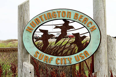 Photograph - Huntington Beach - Surf City Usa by Art Block Collections