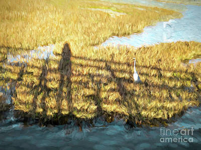 Digital Art - Huntington Beach Wetlands by Jennie Breeze