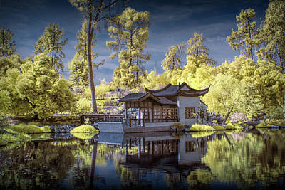 Photograph - Huntington Chinese Botanical Garden In California In Infrared by Randall Nyhof