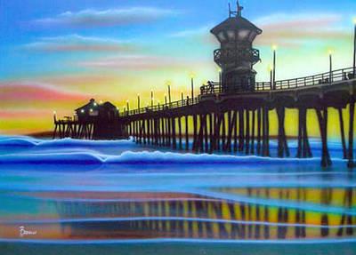Huntington Beach Painting - Huntington by Michael  Brindley
