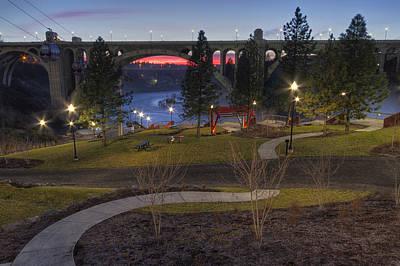 Huntington Park Sunset - Spokane Art Print by Mark Kiver