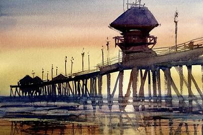 Painting - Huntington Pier by Sandra Strohschein